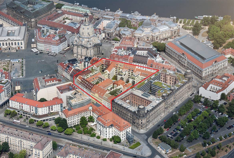 Dresden-QIII_Luftbild mit Markierung